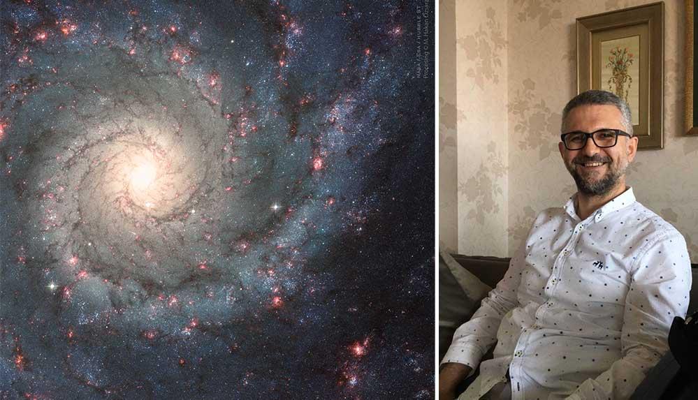 """Türk doktorun renklendirdiği astronomi fotoğrafı """"NASA"""" seçkisinde yer aldı"""