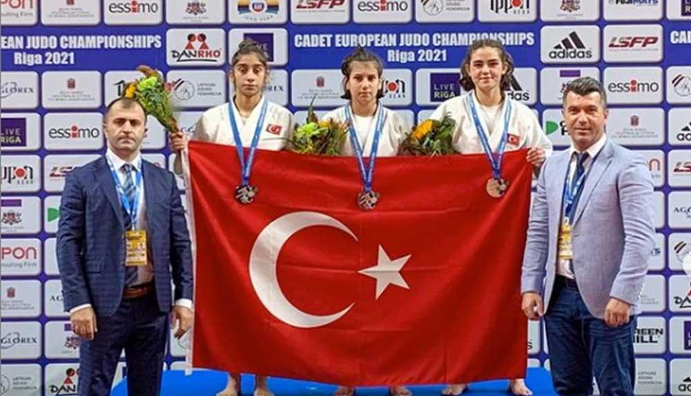 Ümit milli judoculardan Avrupa şampiyonasında 3 madalya