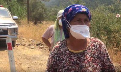 Yangına lastik ayakkabısıyla müdahale eden köylü kadın: Çay dağıtacağına hortum getirseydi ya buraya