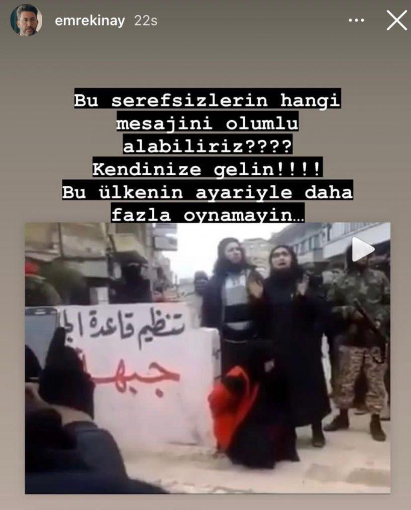 Emre Kınay'dan çok sert 'Taliban' tepkisi: Bu şerefsizlerin hangi mesajını olumlu alabiliriz?