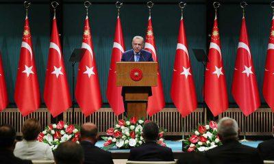 Cumhurbaşkanı Erdoğan, Kabine Toplantısı sonrası açıklama yapıyor