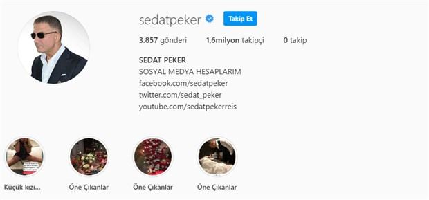 Sedat Peker'in sosyal medya hesabına ilişkin yeni gelişme