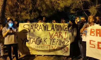 'Barınamıyoruz' eylemleri yapan öğrencilere polis müdahalesi