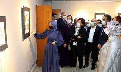 Çankırı'da Aile ve Sosyal Hizmetler Müdürünün koruyucu ailesi olduğu 15 yaşındaki Kardelen Bolulu resim sergisi açtı