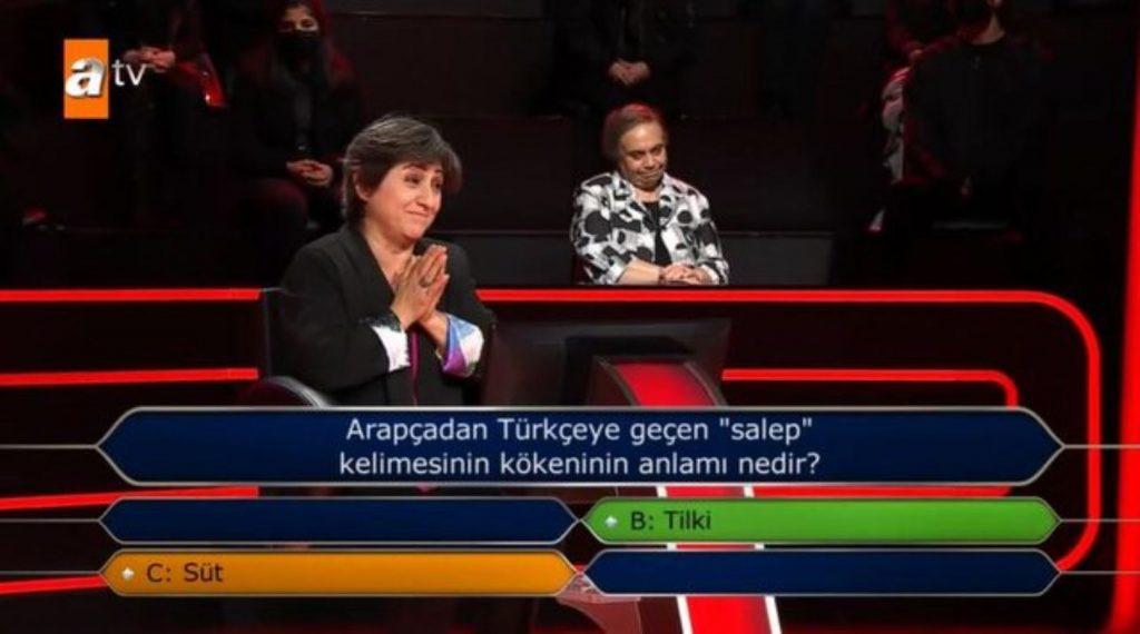 Kim Milyoner Olmak İster'de seyirciyi şaşkına çeviren 'salep' sorusu