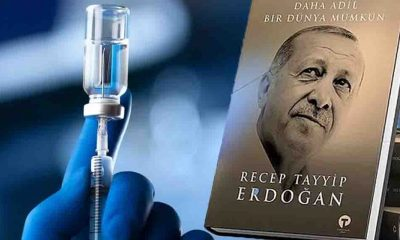 AKP'den 'kampanya': Aşı olup partiye başvurana Erdoğan'ın kitabı hediye