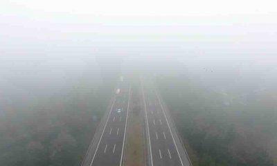 Anadolu Otoyolu'nun Düzce geçişinde sis etkili oluyor