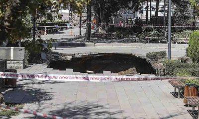 Ankara Güvenpark'ta göçük meydana geldi