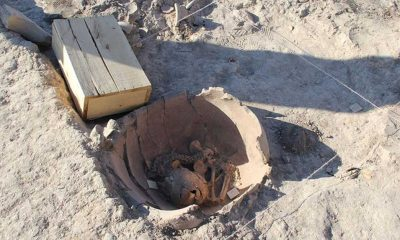 Arslantepe'de 5 bin 600 yıllık iki bebek iskeleti bulundu
