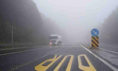 Bolu Dağı'nda yağış ve sis etkili oluyor