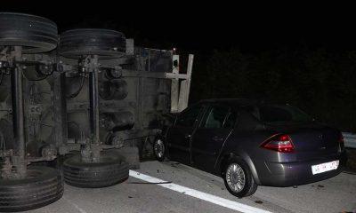 Edirne-İstanbul Otoyolu'nda zincirleme trafik kazası