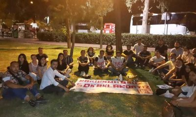 İzmir'de barınacak yer bulamayan öğrenciler Hasanağa Parkı'nda sabahlayacak