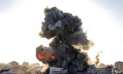 İsrail savaş uçaklarından Gazze'nin çeşitli noktalarına hava saldırısı