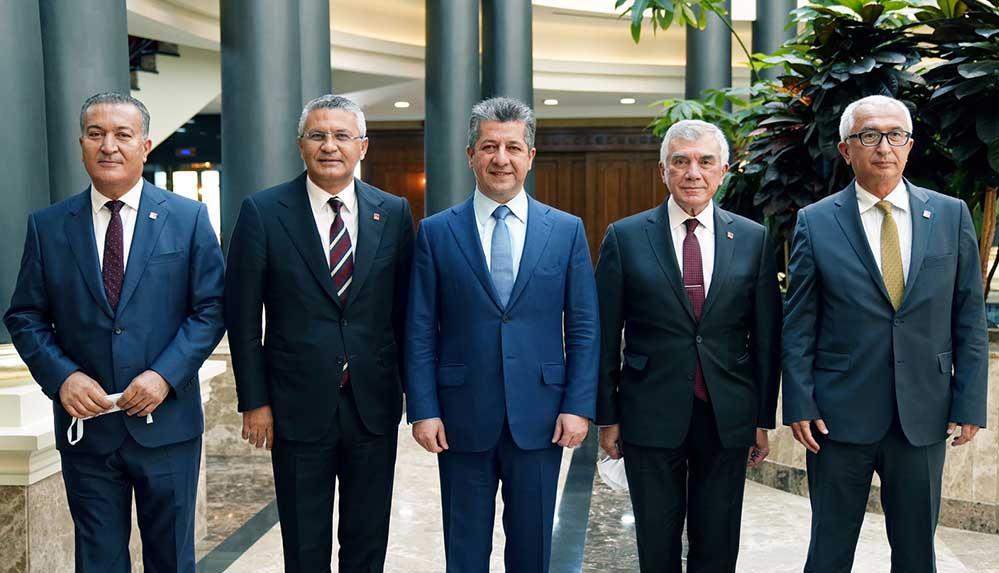 CHP heyeti Erbil'de IKBY Başbakanı Barzani ile görüştü
