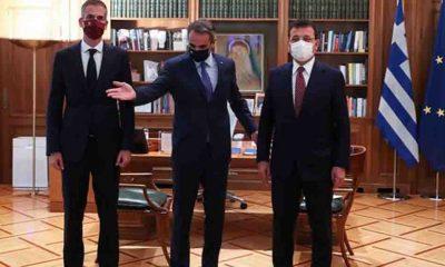 İmamoğlu, Atina'da Yunanistan Başbakanı Miçotakis ile görüştü