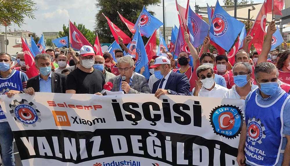 Xiaomi işçileri için İzmir'de eylem