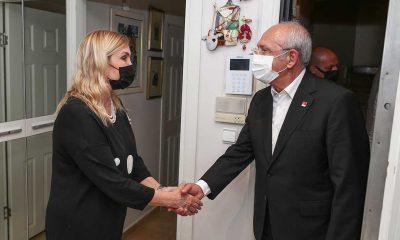 Kılıçdaroğlu ve İmamoğlu Ferhan Şensoy'un ailesine taziye ziyaretinde bulundu