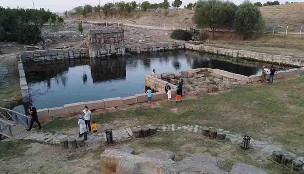 Konya'daki Hitit su anıtı tarihi ve mimarisiyle ilgi çekiyor