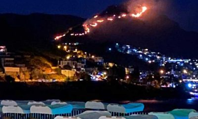 Bodrum'da tarihi Aspat tepelerinde korkutan yangın