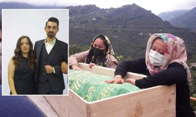 Nikahlarından 3 saat sonra trafik kazasında hayatını kaybeden çiftin cenazeleri toprağa verildi