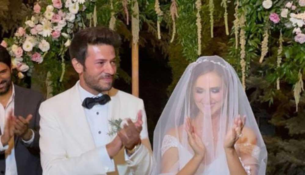 'Hercai' dizisinin sevilen oyuncuları Oya Unustası ile Ahmet Tansu Taşanlar evlendi