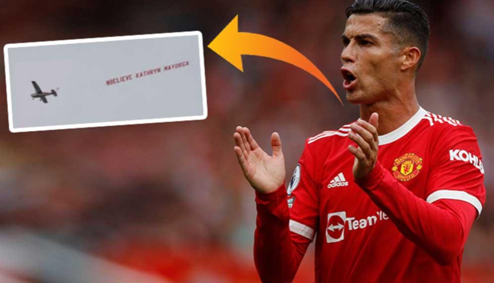 Sahaların yıldızı Ronaldo'ya gökyüzünde protesto