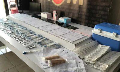 Sahte PCR çetesinin sokak ortasında test yaptığı görüntüler ortaya çıktı