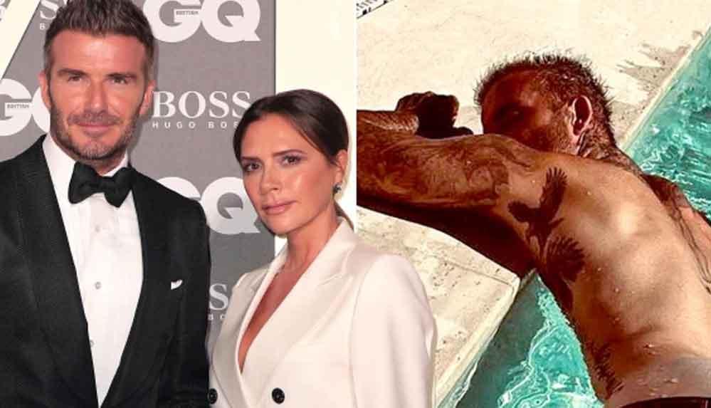 """Victoria Beckham, eşi David Beckham'ın kalçasını """"Mutlu pazarlar"""" notuyla paylaştı"""