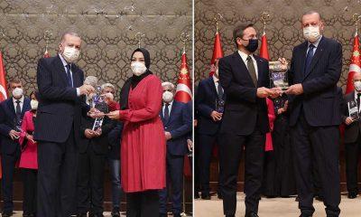 Erdoğan 'medya' ödüllerini verdi: Hilal Kaplan, Fahrettin Altun ve Abdülkadir Selvi...