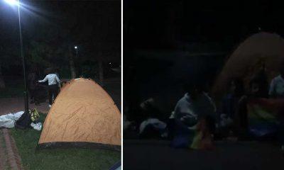 Ankara'da parka çadır kuran üniversiteliler gözaltına alındı