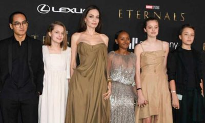 Angelina Jolie, yeni filminin galasına 5 çocuğu ile katıldı