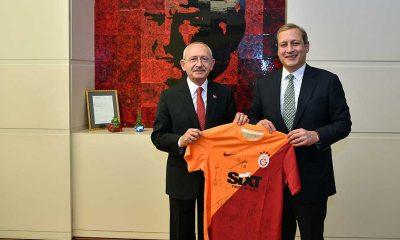 CHP lideri Kılıçdaroğlu, Galatasaray başkanı Burak Elmas'ı kabul etti