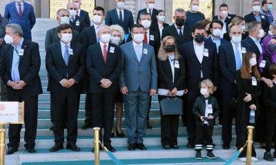 Vefat eden eski CHP İzmir Milletvekili Erkut Şenbaş için TBMM'de tören düzenlendi