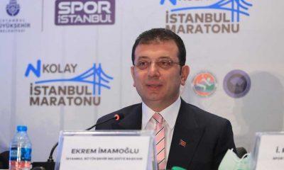İmamoğlu: İstanbul Maratonu'nda dünya rekoru kırılırsa havaya uçarım