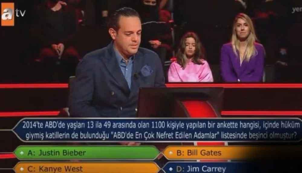 'Kim Milyoner Olmak İster'de şaşkına çeviren 'ABD' sorusu: Yarışmacı tüm ihtimalleri denedi