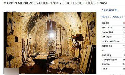Mardin'deki bin 1700 yıllık kilise, yurt dışında satışa sunuldu