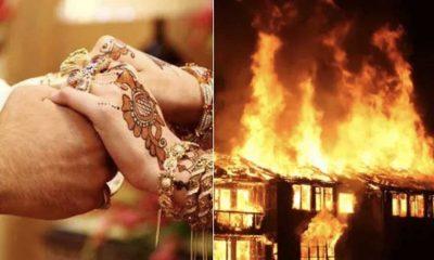 Pakistan'da bir baba istemediği biriyle evlenen kızının evini ateşe verdi