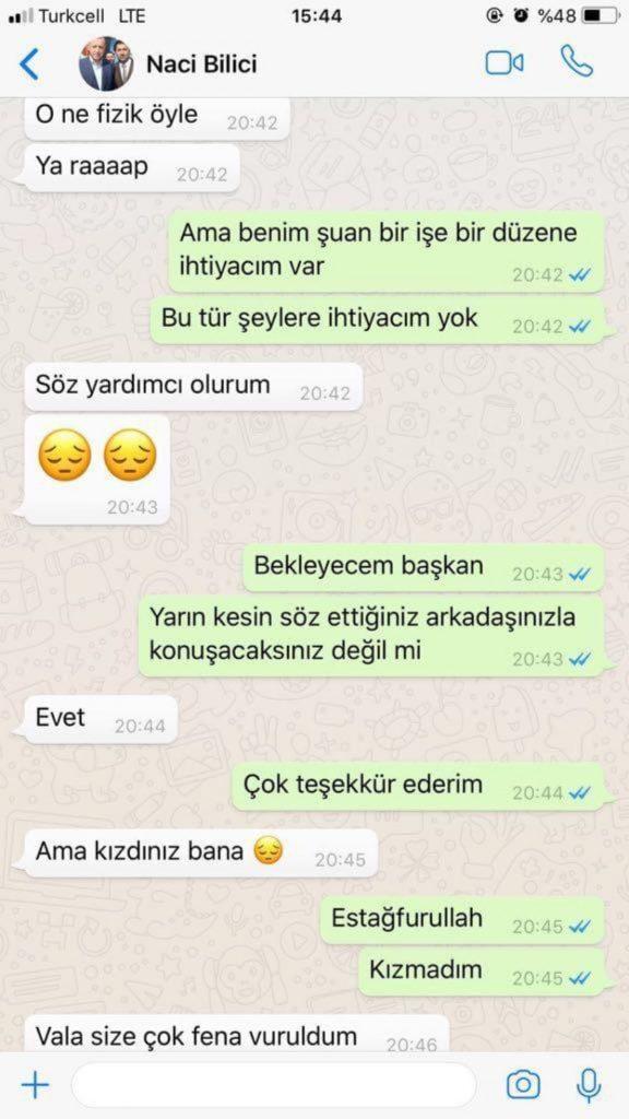 TÜGVA belgelerinden sonra ortaya çıktı: AKP'li isimden iş arayan kadına sarkıntılık mesajları