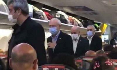 """Tarifeli yolcu uçağında Kılıçdaroğlu şaşkınlığı: """"Devletin tüm imkanlarını kullanarak uçan saraylarda gezenlere ibret olsun"""""""