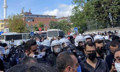 Tutuklamaları protesto eden Boğaziçili öğrenciler gözaltına alındı