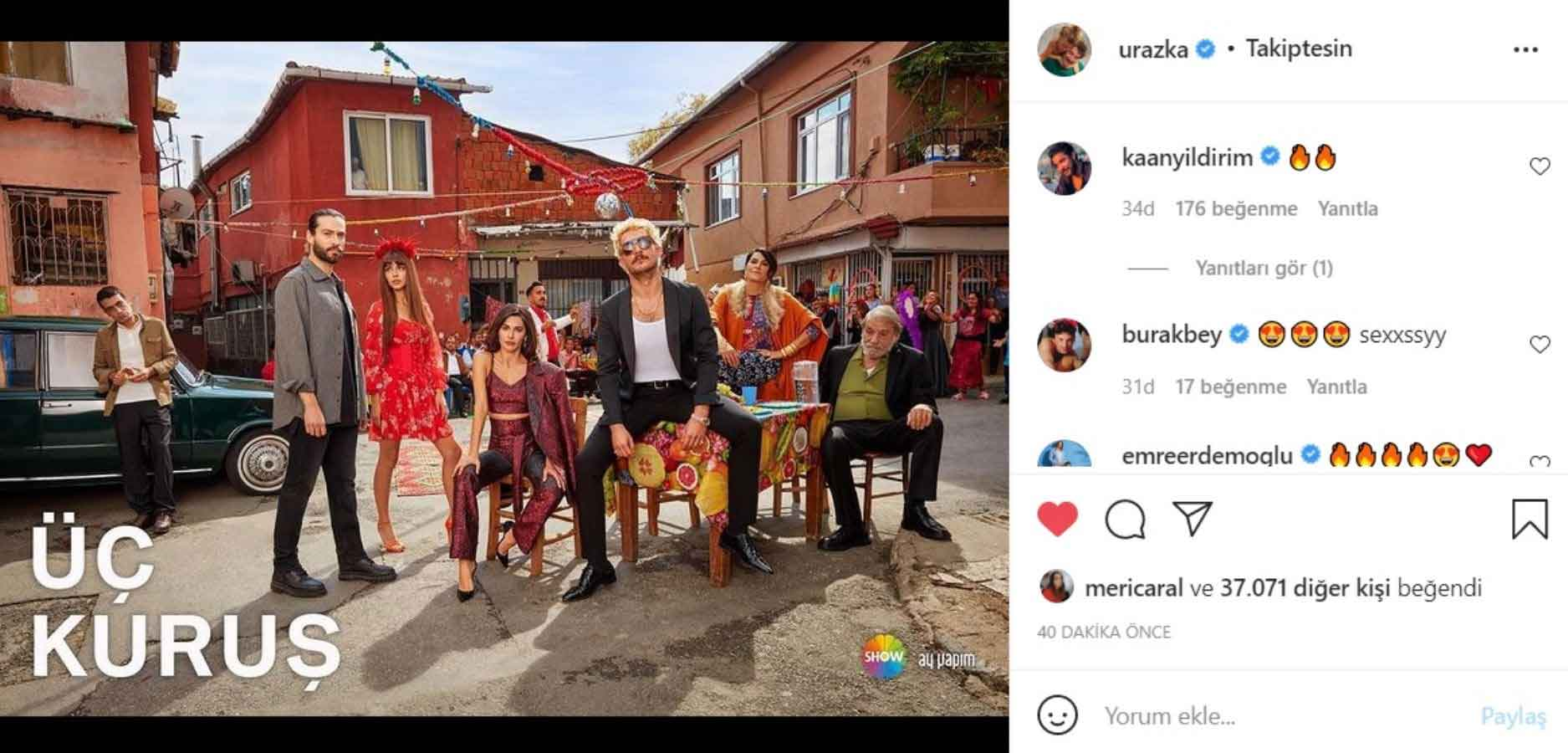 'Üç Kuruş' dizisinin afişi yayınlandı: Başrollerde Uraz Kaygılaroğlu ve Ekin Koç var