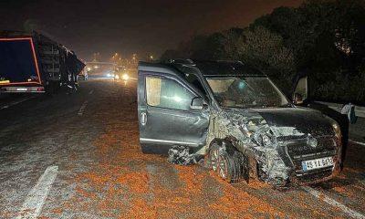 Yola dökülen salçalar nedeniyle 18 araç çarpıştı, bir kişi hayatını kaybetti, 10 kişi yaralandı