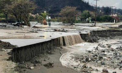 Yunanistan'ın Eğriboz Adası'nda sellerde yüzlerce ev ve araç sular altında kaldı