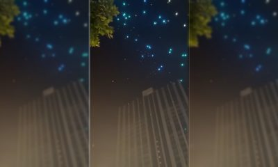 Arızalanan droneler izleyicilerin üzerine düştü